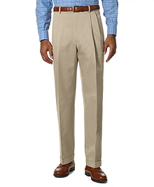 Country Club Better Cotton Pleat-Front Trousers