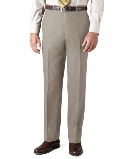 Country Club Saxxon™ Wool Madison Fit Plain-Front Trousers