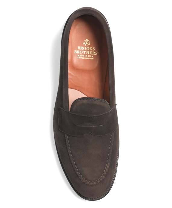 32764a3f387 Hand Sewn Suede Penny Loafers - Brooks Brothers