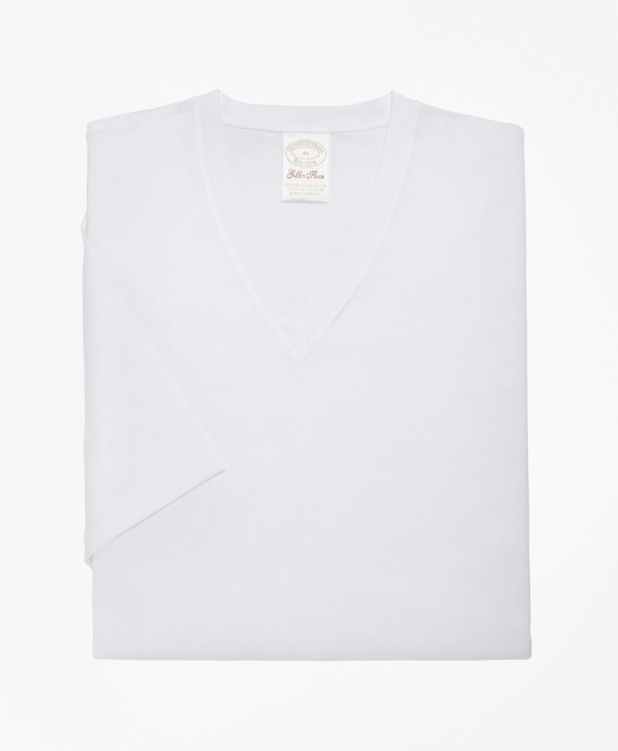 Sea Island  V-Neck Tee White