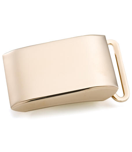 Gold Plated Sterling Plain Plaque Buckle