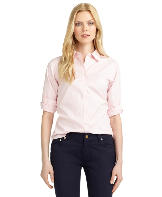 Petite Non-Iron Classic-Fit Dress Shirt Pink