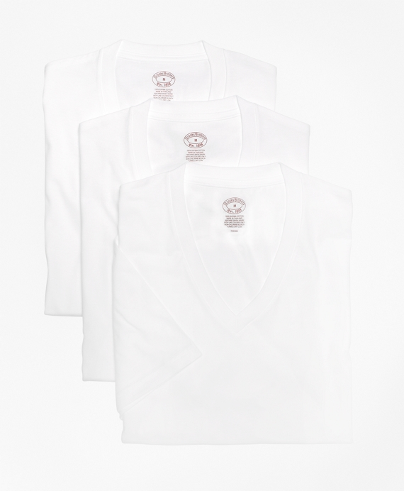 99c5de1c1c2 Supima® Cotton V-Neck Undershirt - Three Pack - Brooks Brothers