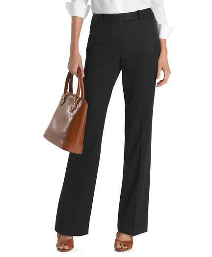 Plain-Front Caroline Fit Gabardine Trousers