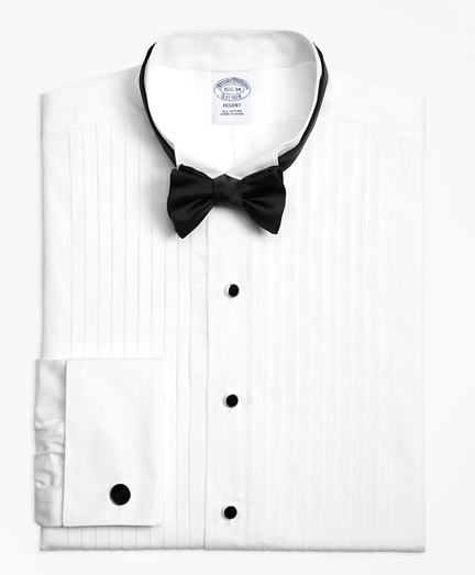 Regent Fit Ten-Pleat Wing Collar Tuxedo Shirt