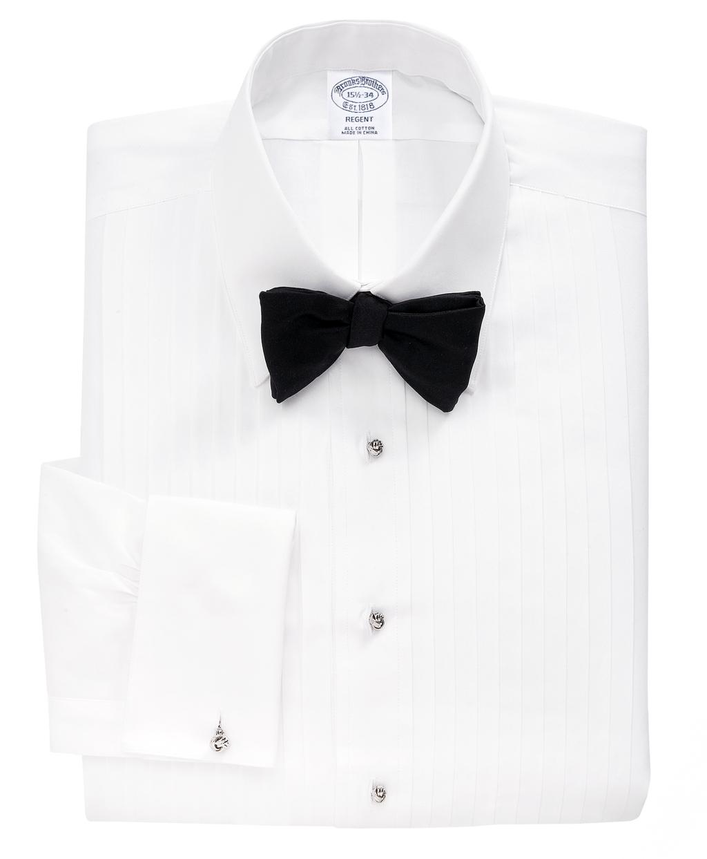 bbef14a6112 Men's Slim Fit Ten-Pleat Tennis Collar Tuxedo Shirt