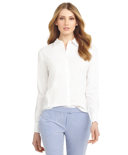 Petite Non-Iron Fitted French Cuff Dress Shirt