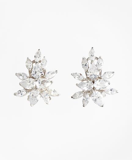 Marquis-Cut Cluster Stud Earrings