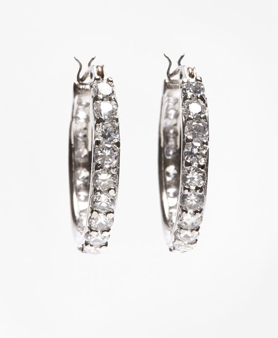 Crystal-Studded Hoop Earrings As Shown