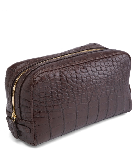 Crocodile Travel Kit Brown