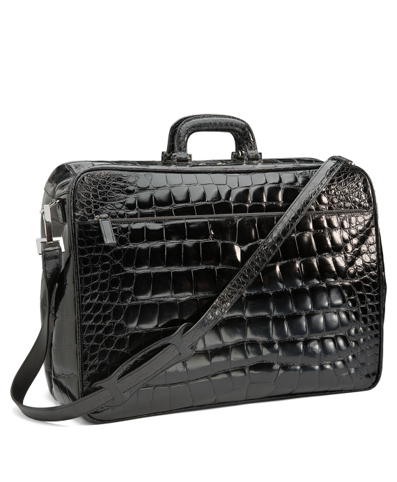 Glazed Alligator Travel Bag Black