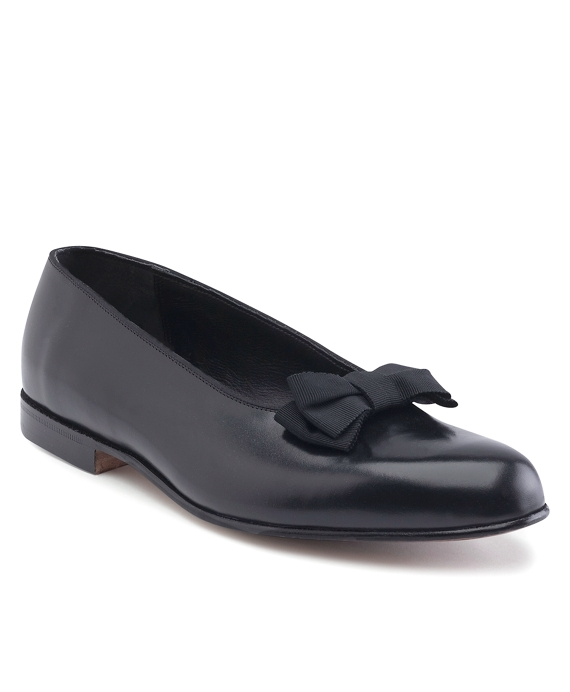Calfskin Formal Bow Pumps Black