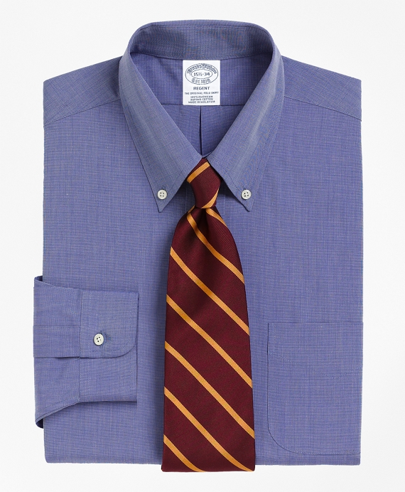 Regent Regular-Fit Dress Shirt,  Button-Down Collar Blue