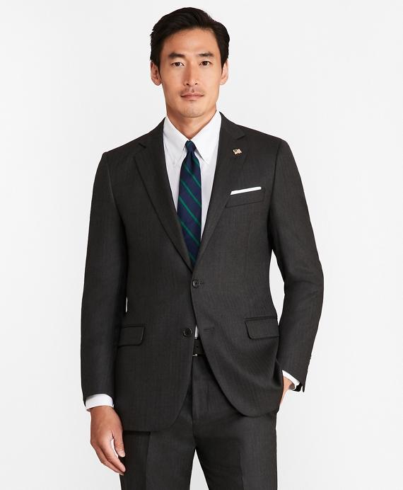 Fitzgerald Fit Saxxon™ Wool Herringbone 1818 Suit Grey