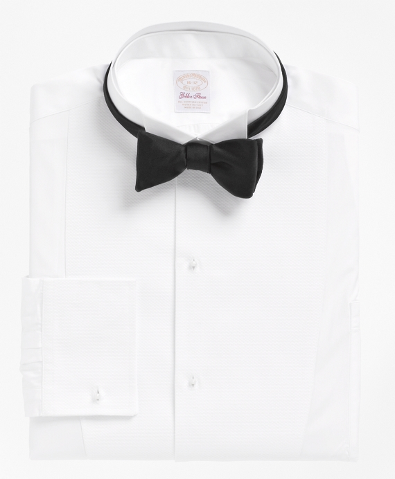 Golden Fleece® French Cuff Tuxedo Shirt With Detachable Collar White