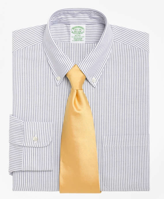 Milano Slim-Fit Dress Shirt, Stripe Blue