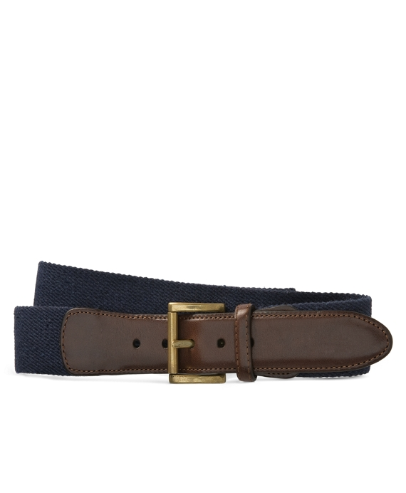 Canvas Leather Belt Blue