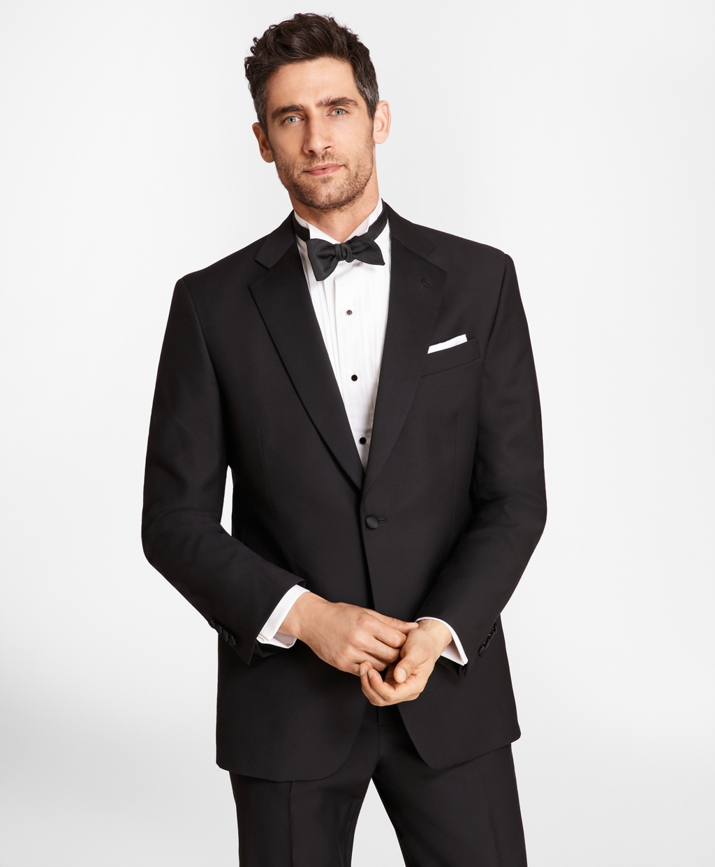 1950s Tuxedos and Men's Wedding Suits Brooks Brothers Mens Wool Tuxedo Jacket $898.00 AT vintagedancer.com