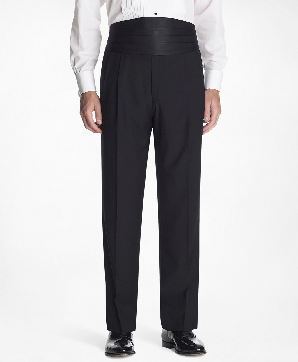 1950s Men's Clothing Brooks Brothers Mens 1818 Pleat-Front Tuxedo Trousers $300.00 AT vintagedancer.com