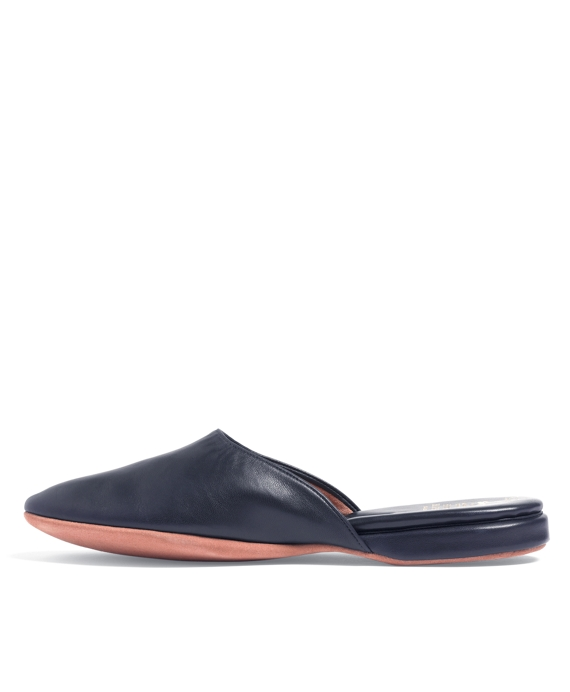 50% off new release official shop Men's Nappa Leather Backless Blue Slip-On Slippers   Brooks Brothers