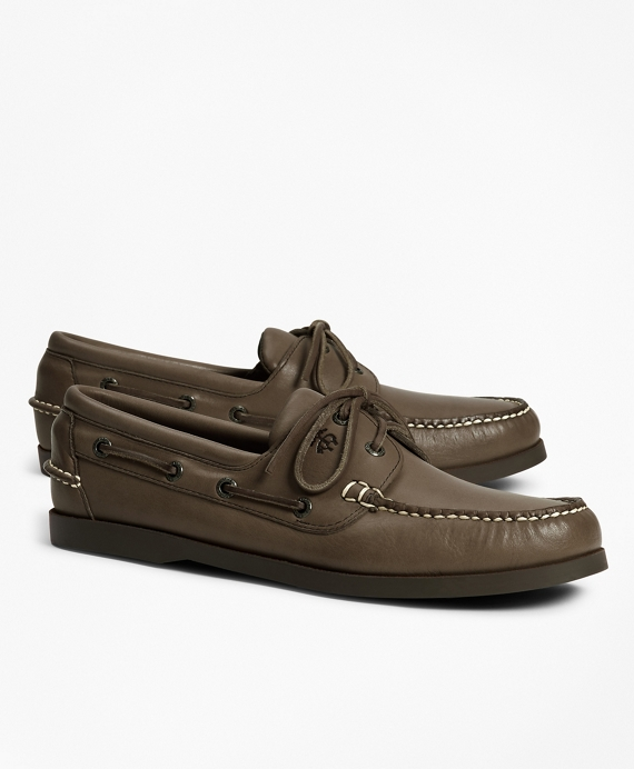 793a53cd5d Men's Leather Tru-Moc Boat Shoes | Brooks Brothers