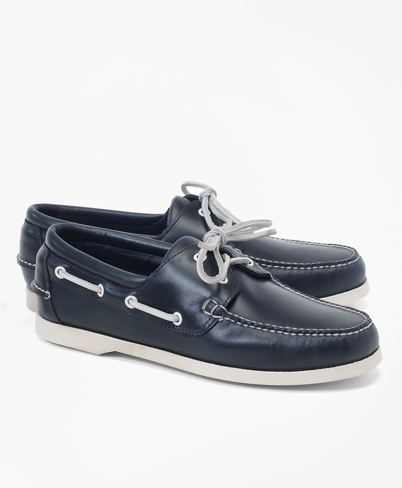 Leather Boat Shoes Navy