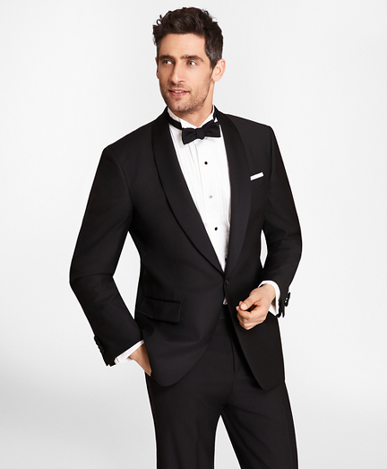 One-Button Shawl Collar Tuxedo Jacket