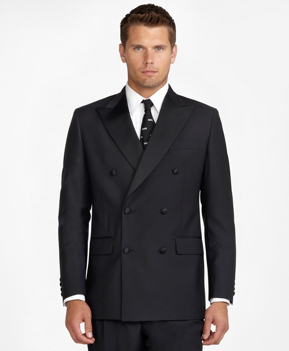 Men S Black Double Breasted Tuxedo Jacket Brooks Brothers