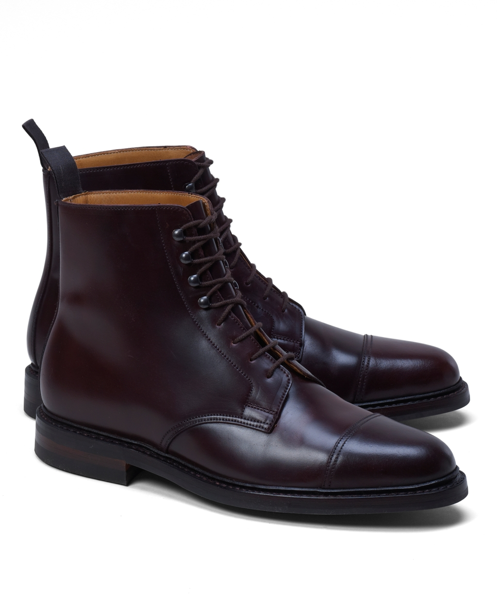 Brooks Brothers Men's Peal & Co. Cordovan Boots