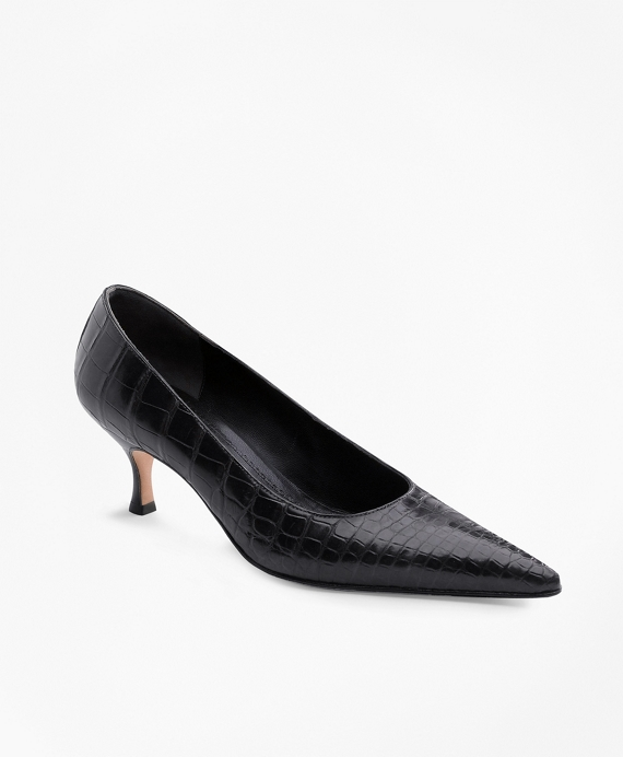 Alligator Pumps Black