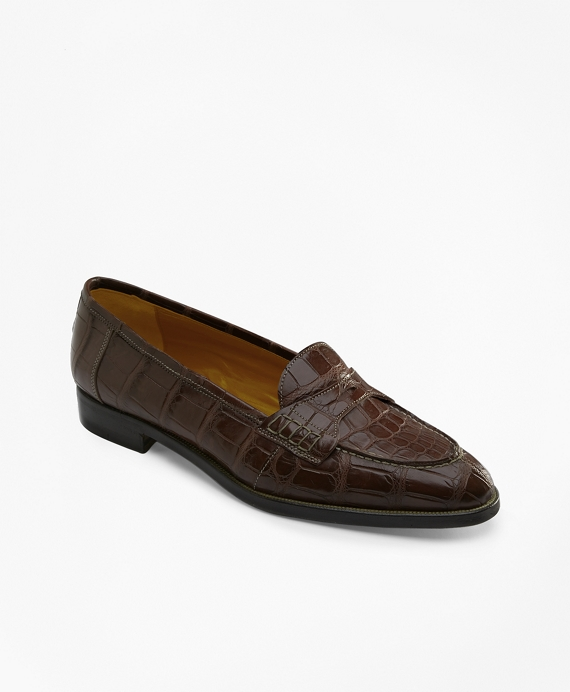 Alligator Loafers Brown