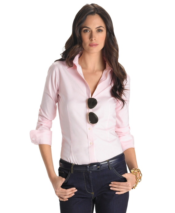 Non-Iron Tailored-Fit Dress Shirt Pink