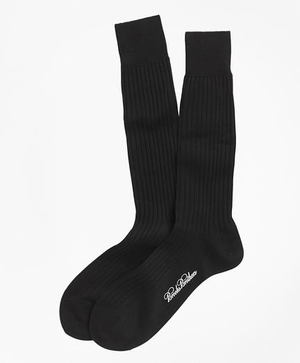 Egyptian Cotton Ribbed Crew Socks