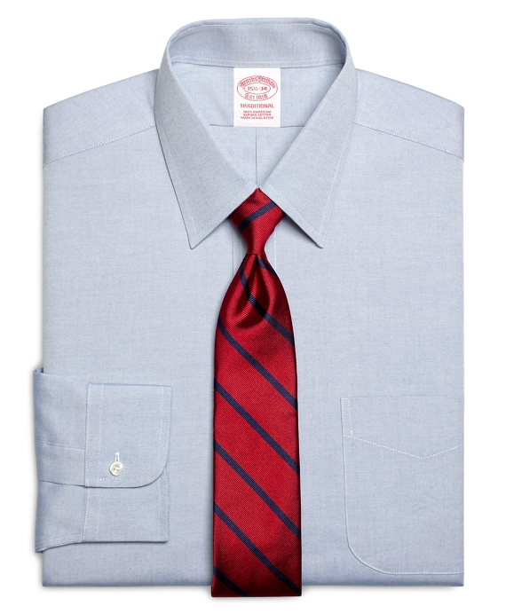Traditional Extra-Relaxed-Fit Dress Shirt, Forward Point Collar Blue