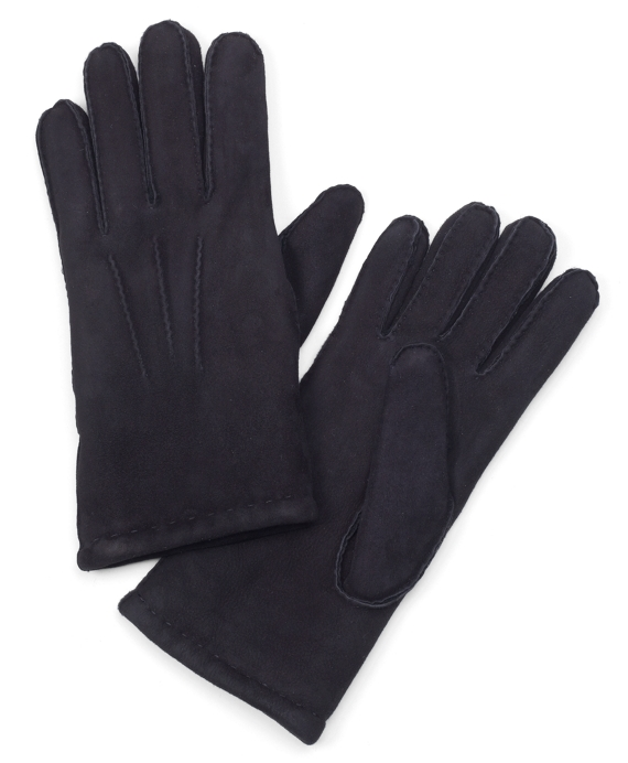 Shearling Gloves Black