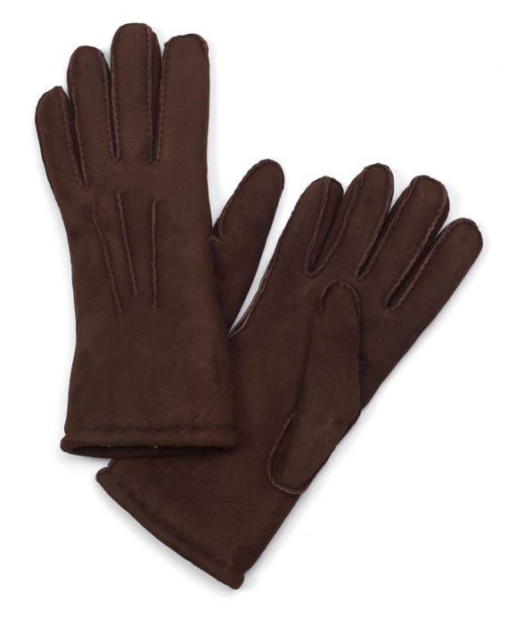 Shearling Gloves Brown