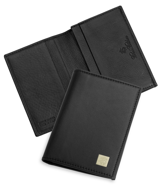 Golden fleece leather business card case brooks brothers golden fleece leather business card case black reheart Images