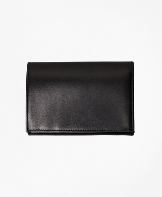 French Calfskin Trifold Wallet Black
