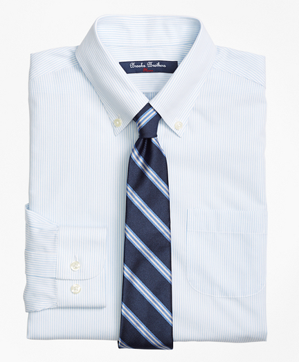 Boys Non-Iron Supima® Cotton Broadcloth Mini Stripe Dress Shirt