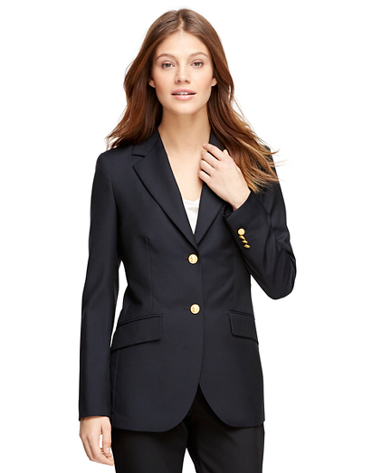 Petite Loro Piana® Classic Fit Two-Button Blazer
