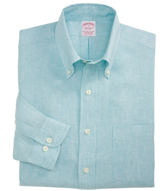 Irish Linen Sport Shirt Aqua
