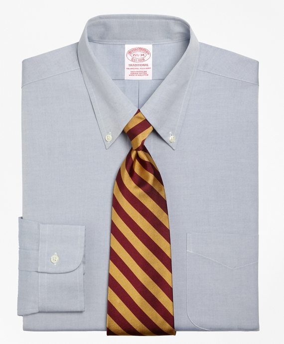 Traditional Extra-Relaxed-Fit Dress Shirt, Button-Down Collar Blue