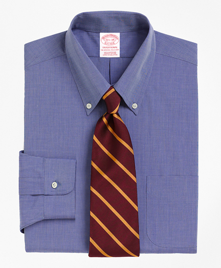 Traditional Extra-Relaxed-Fit Dress Shirt, Button-Down Collar