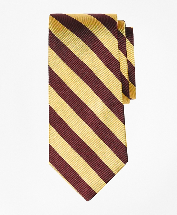 Boys Guard Stripe Tie Burgundy-Gold