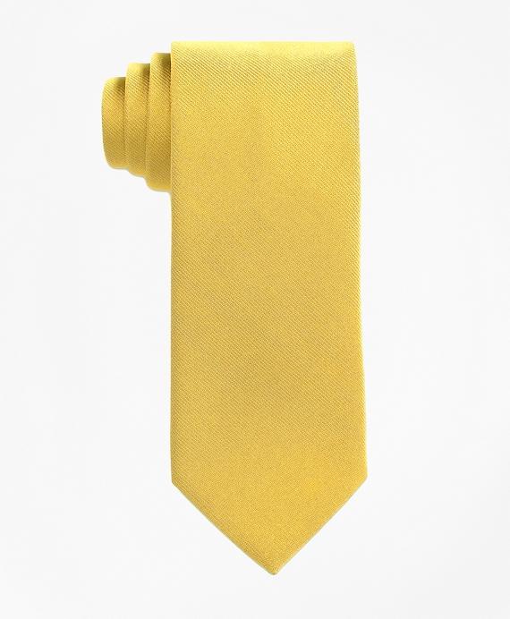 Boys Solid Silk Tie Gold