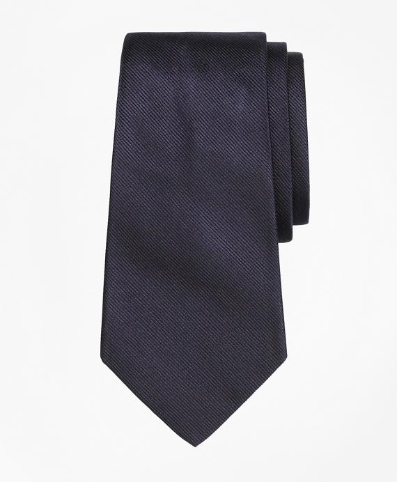 Boys Solid Silk Tie Navy