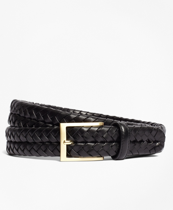 Leather Braided Belt Black