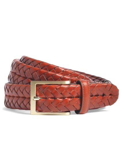 Leather Braided Belt