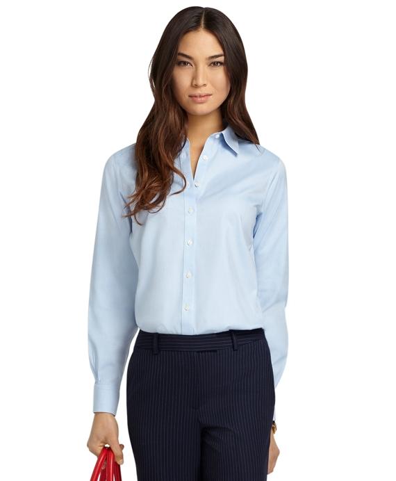 Non-Iron Classic-Fit Dress Shirt Blue