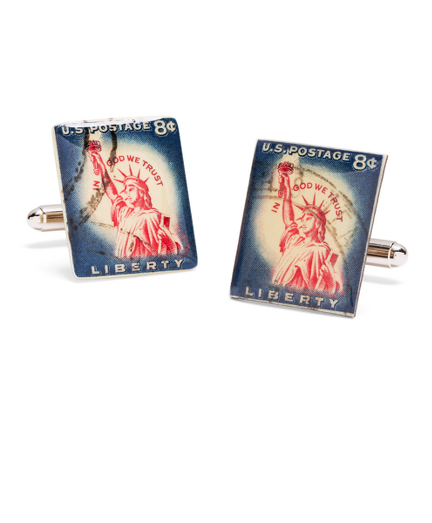 Vintage Liberty Stamp Cuff Links